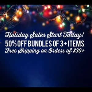 Holiday Sale! Now through 12/31/2019'